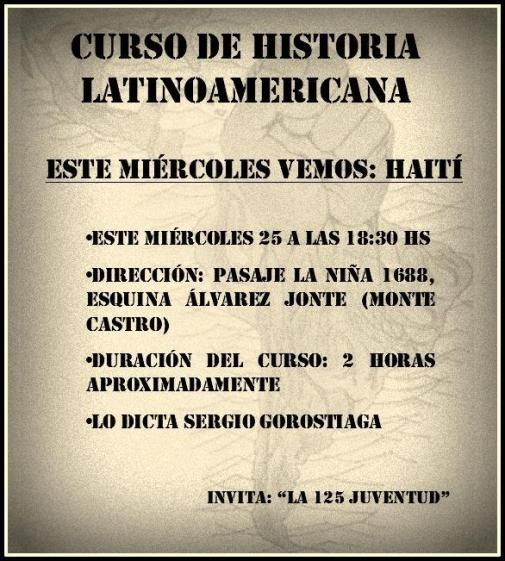 History of Haití Spanish Language
